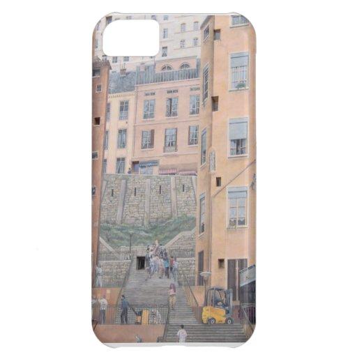 caso del iPhone - Lyon, Francia Funda Para iPhone 5C