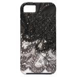 ¡Caso del iPhone negro 5 del satén y del cordón! iPhone 5 Cárcasas