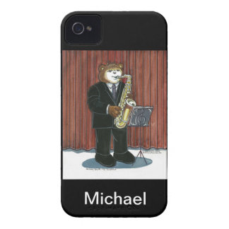 caso del iPhone para el jugador de saxofón Case-Mate iPhone 4 Protector