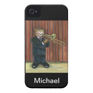 caso del iPhone para el jugador de Trombone Case-Mate iPhone 4 Coberturas