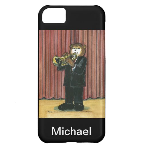 caso del iPhone para el jugador de trompeta Funda Para iPhone 5C
