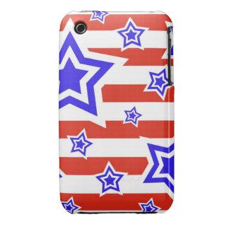 Caso del iPhone patriótico 3 de las estrellas y de Case-Mate iPhone 3 Protector