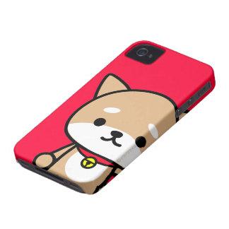 caso del iPhone - perrito - rojo iPhone 4 Protector