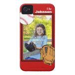 Caso del iPhone personalizado 4/4S del béisbol/del iPhone 4 Case-Mate Carcasa