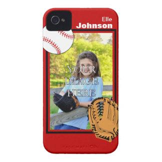 Caso del iPhone personalizado 4/4S del béisbol/del Funda Para iPhone 4 De Case-Mate