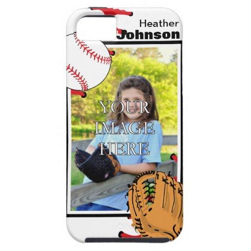 Caso del iPhone personalizado 5 del béisbol/del Funda Para iPhone 5 Tough