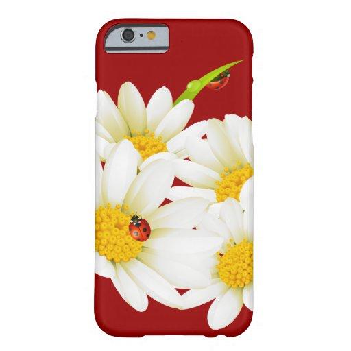 Caso del iPhone precioso 6 de las margaritas y de Funda De iPhone 6 Barely There