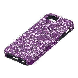 Caso del iPhone púrpura de los pescados y del flor Funda Para iPhone SE/5/5s
