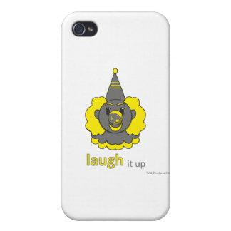 caso del iphone - ríalo para arriba iPhone 4/4S carcasas