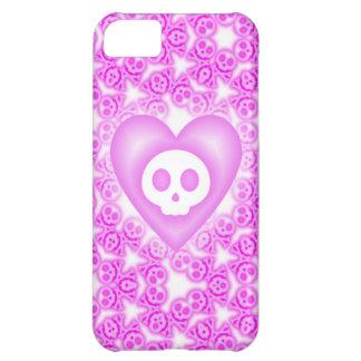 Caso del iphone rosado cubierto caramelo 5 del cor