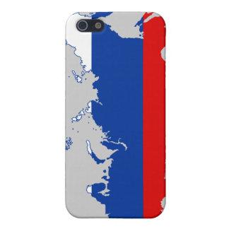 Caso del iPhone ruso 4 del mapa/de la bandera iPhone 5 Fundas