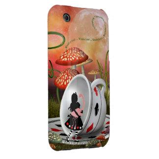 Caso del iPhone surrealista 3G de Alicia, del iPhone 3 Carcasas