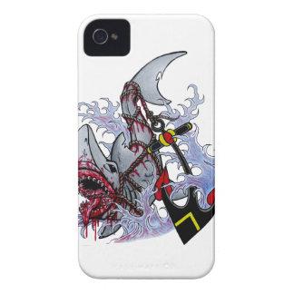 caso del ipnone 4/4s del cebo del tiburón Case-Mate iPhone 4 carcasa