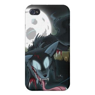 Caso del lobo del fantasma del zombi iPhone 4 fundas