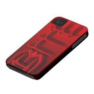 Caso del logotipo de la mordedura de HotterThanHel Case-Mate iPhone 4 Protectores
