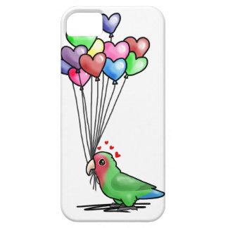 Caso del Lovebird en BLANCO Funda Para iPhone 5 Barely There