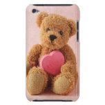 caso del luv u iPod del oso de peluche I apenas al iPod Case-Mate Cárcasas