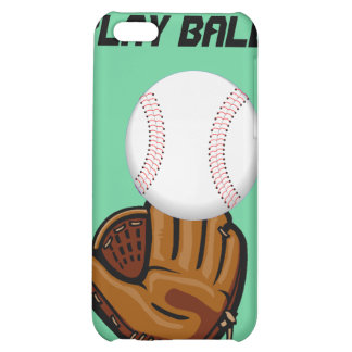 Caso del monograma del béisbol de la bola del jueg