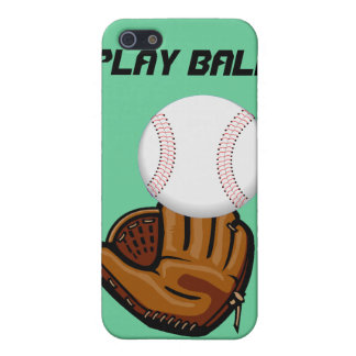 Caso del monograma del béisbol de la bola del jueg iPhone 5 fundas