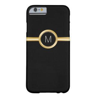 Caso del monograma del negocio de los hombres de funda de iPhone 6 barely there