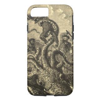 Caso del monstruo de mar del calamar gigante del funda iPhone 7