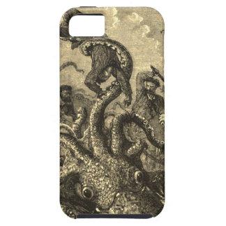 Caso del monstruo de mar del calamar gigante del funda para iPhone SE/5/5s