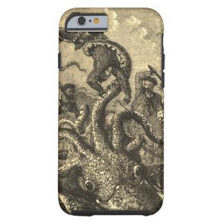 Caso del monstruo de mar del calamar gigante del funda resistente iPhone 6