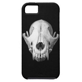 Caso del negro Iphone5 del cráneo del coyote iPhone 5 Funda