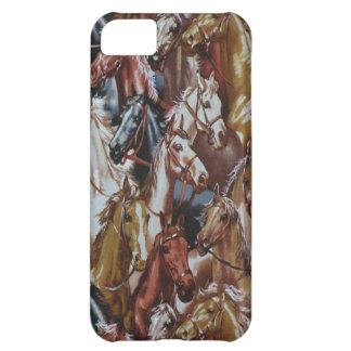Caso del oeste salvaje del iPhone 5 de los caballo Funda Para iPhone 5C
