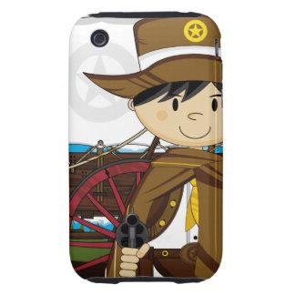Caso del oeste salvaje del iphone del sheriff del carcasa though para iPhone 3