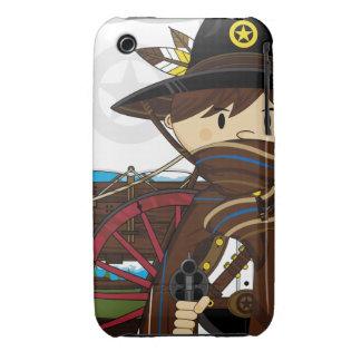 Caso del oeste salvaje del iphone del sheriff del funda bareyly there para iPhone 3 de Case-Mate
