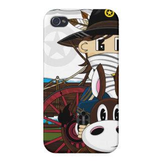 Caso del oeste salvaje del iphone del sheriff del iPhone 4/4S carcasa