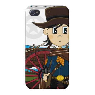 Caso del oeste salvaje del iphone del sheriff del iPhone 4 carcasas