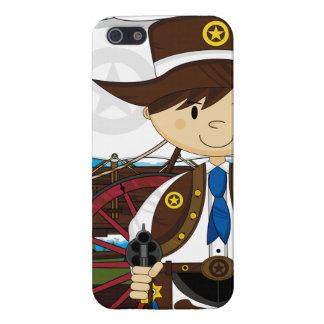 Caso del oeste salvaje del iphone del sheriff del iPhone 5 carcasas