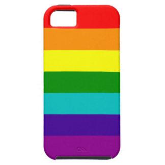 Caso del orgullo del arco iris de 7 rayas iPhone 5 Case-Mate carcasa