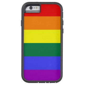 Caso del orgullo del arco iris funda de iPhone 6 tough xtreme