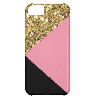 Caso del oro del iPhone lindo 5C del brillo, del Carcasa iPhone 5C