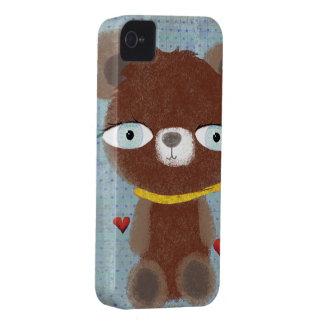 Caso del oso de peluche funda para iPhone 4