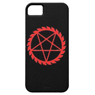Caso del Pentagram de Buzzsaw iPhone 5 Fundas