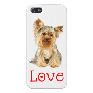 caso del perro de perrito de Yorkshire Terrier del iPhone 5 Carcasas