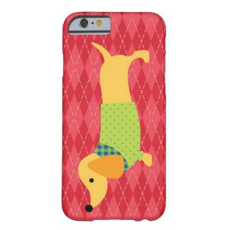 Caso del perro del Dachshund Funda De iPhone 6 Barely There