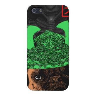 caso del perro del samurai iPhone 5 cárcasas