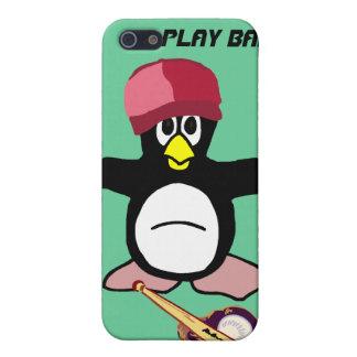 Caso del pingüino del béisbol de la bola del juego iPhone 5 protectores