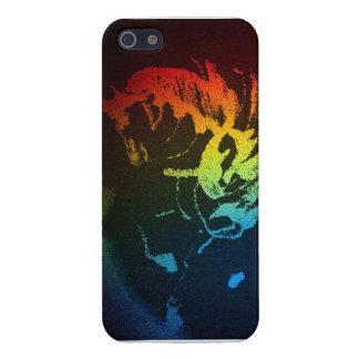 Caso del poder de Pegaso arco iris negro iPhone iPhone 5 Funda