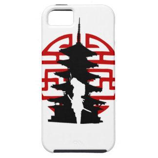 Caso del samurai iPhone 5 Case-Mate fundas