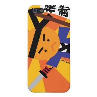 Caso del samurai iPhone4 de la mandarina iPhone 5 Protectores