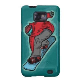 Caso del Snowboarder de la galaxia S de Samsung Galaxy SII Fundas