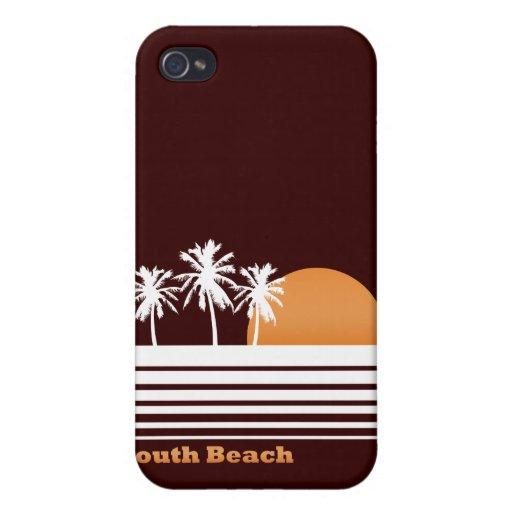 Caso del sur retro del iPhone de la playa iPhone 4 Fundas