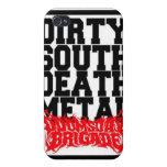 Caso del sur sucio de Iphone del metal de la muert iPhone 4 Fundas