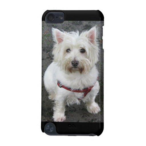 Caso del tacto 4G de iPod del perro de Terrier bla